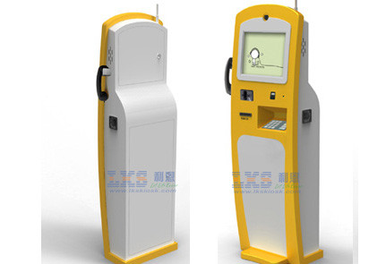 Free Standing Touch Screen Hotel Lobby Kiosk With Telephone
